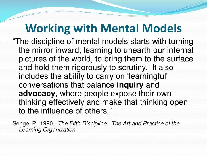 Working with Mental Models
