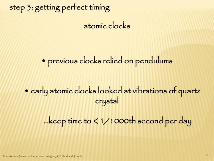 step 3: getting perfect timing