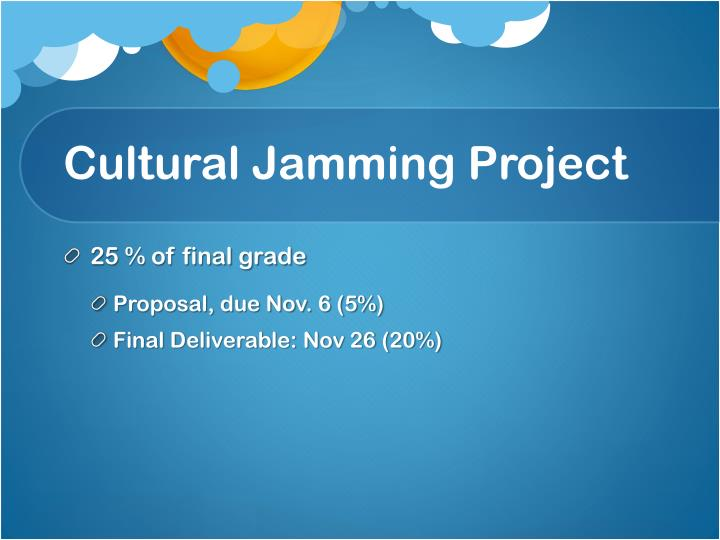Cultural Jamming Project