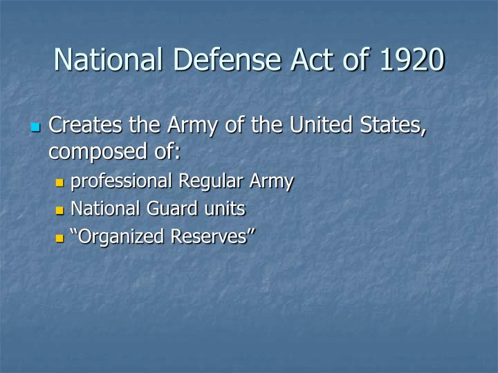 National Defense Act of 1920