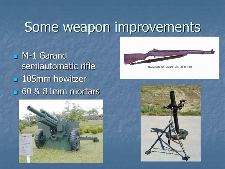 Some weapon improvements