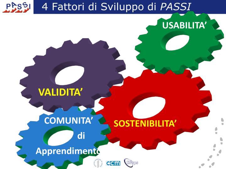 4 Fattori di Sviluppo di
