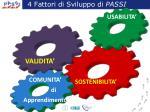 4 fattori di sviluppo di passi
