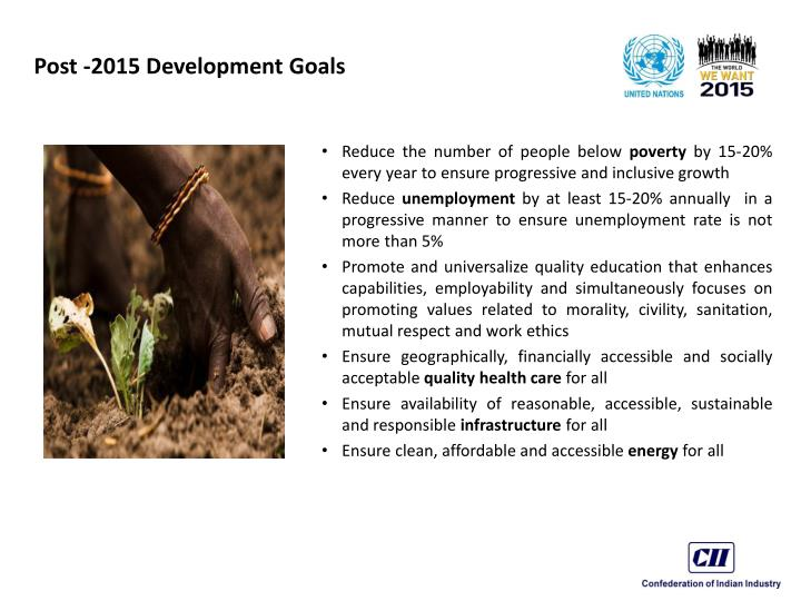 Post -2015 Development Goals