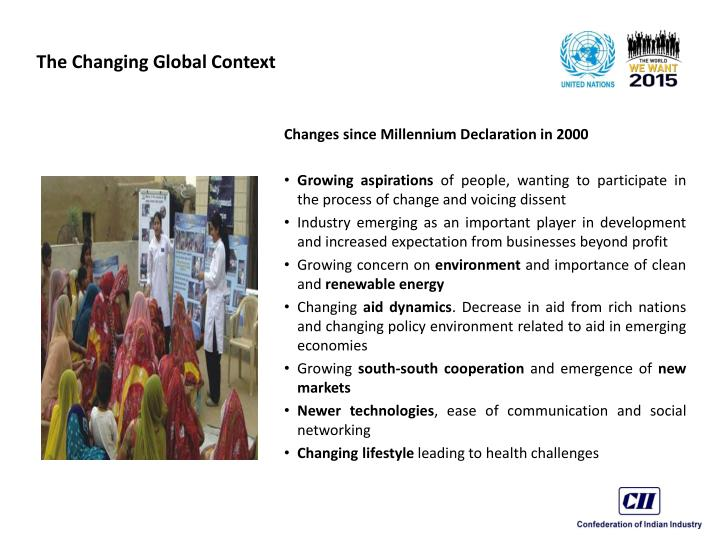 The changing global context1