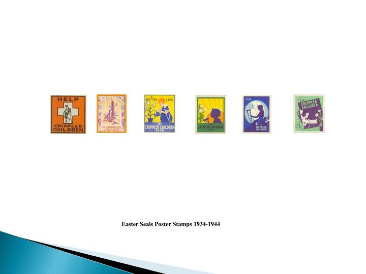 Easter Seals Poster Stamps 1934-1944