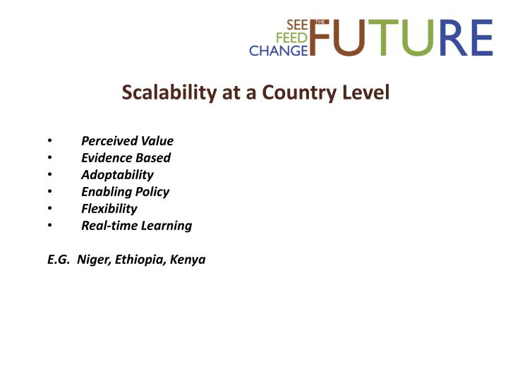 Scalability at a Country Level