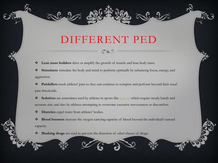 Different ped