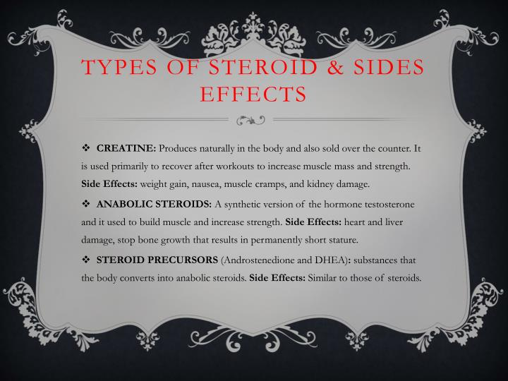 Types of steroid & Sides effects