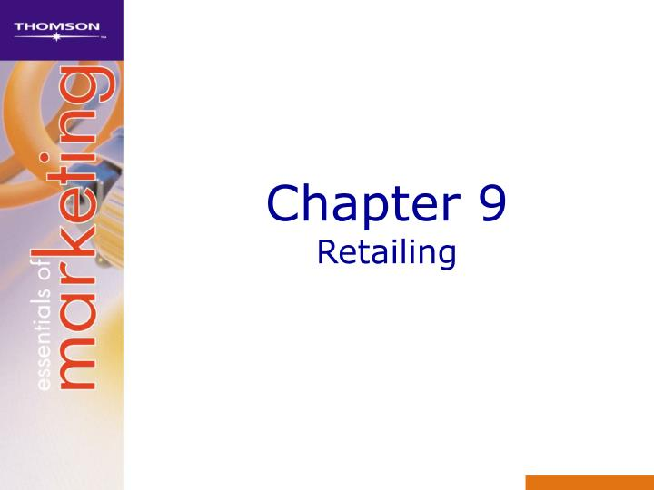 Chapter 9 retailing
