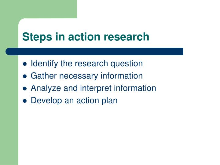 Steps in action research