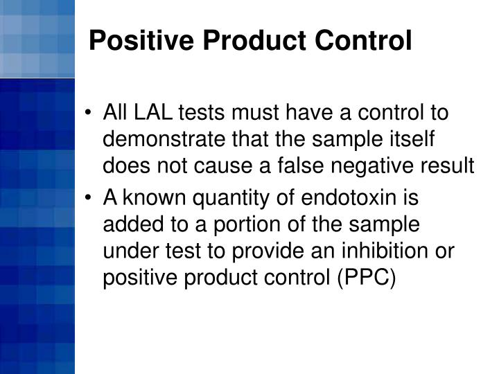 Positive Product Control