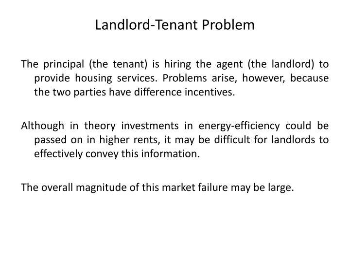 Landlord-Tenant Problem