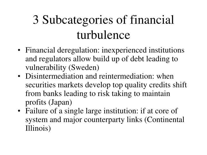 3 Subcategories of financial turbulence