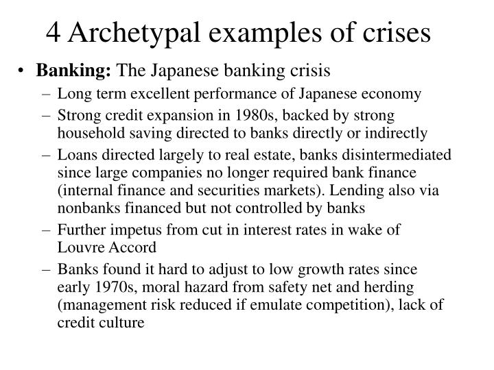 4 Archetypal examples of crises