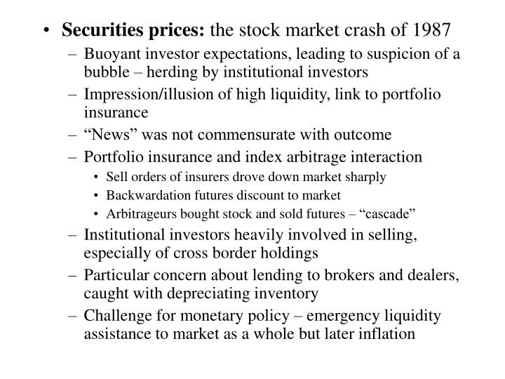 Securities prices: