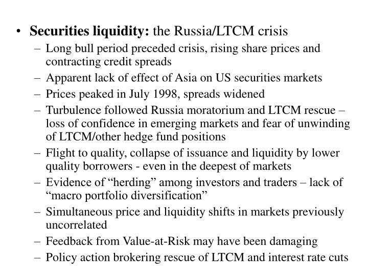 Securities liquidity: