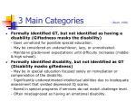 3 main categories baum 1990