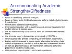 accommodating academic strengths giftedness