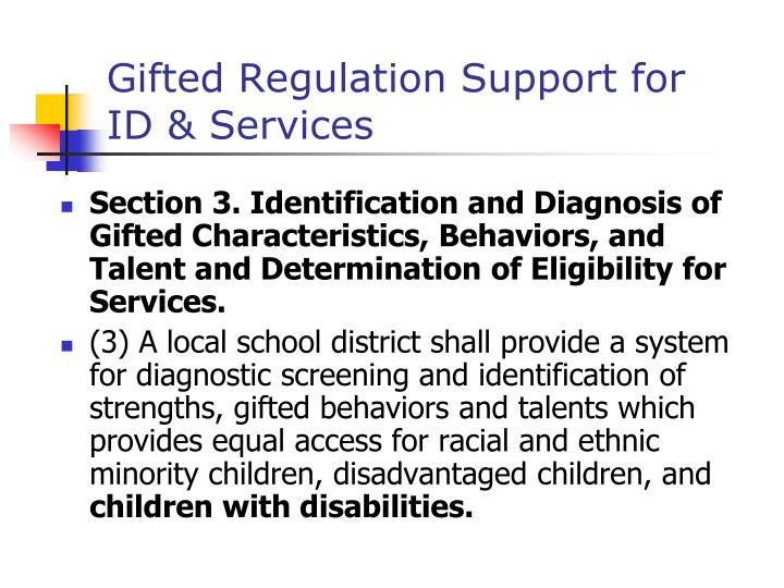 Gifted Regulation Support for