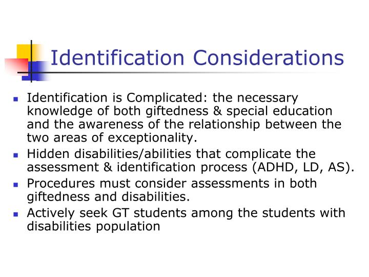 Identification Considerations