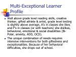 multi exceptional learner profile