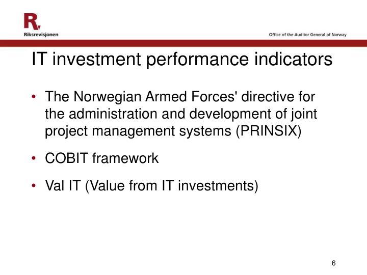 IT investment performance indicators