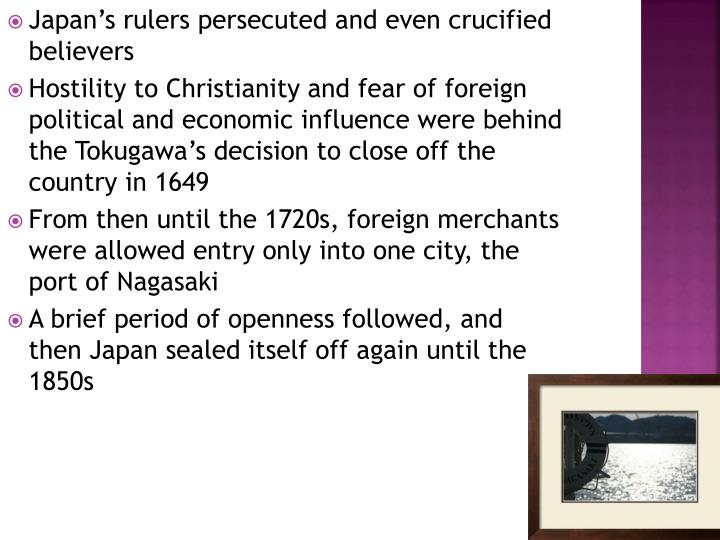Japan's rulers persecuted and even crucified believers