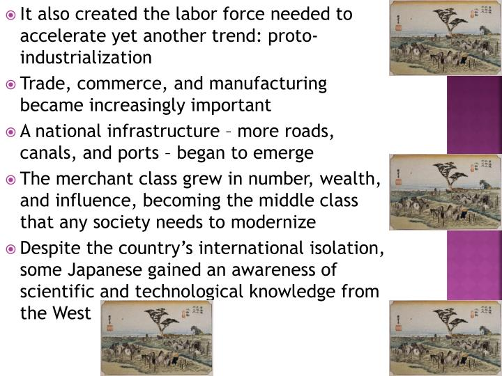 It also created the labor force needed to accelerate yet another trend: proto-industrialization