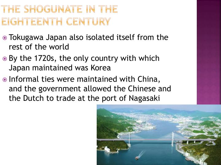 The Shogunate in the Eighteenth Century
