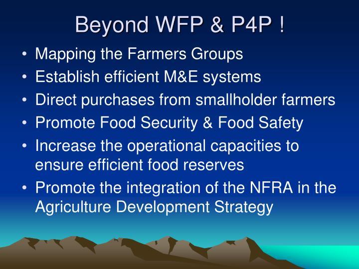 Beyond WFP & P4P !
