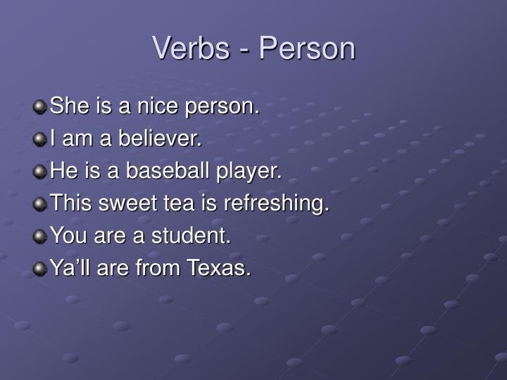 Verbs - Person