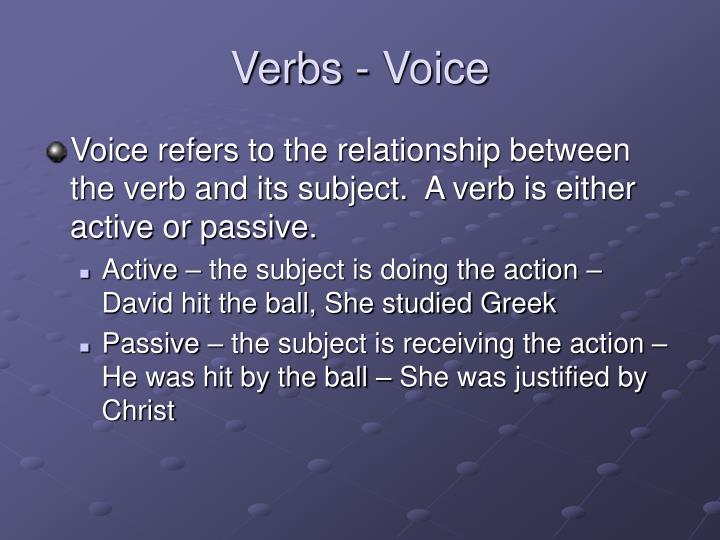 Verbs - Voice
