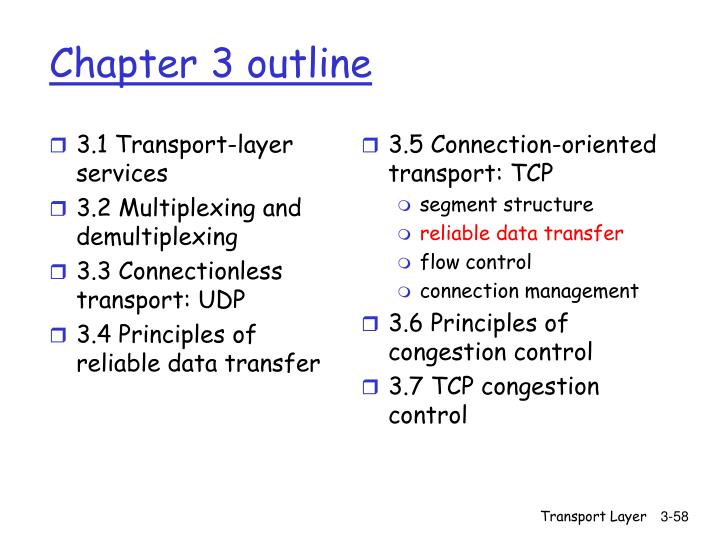 3.1 Transport-layer services
