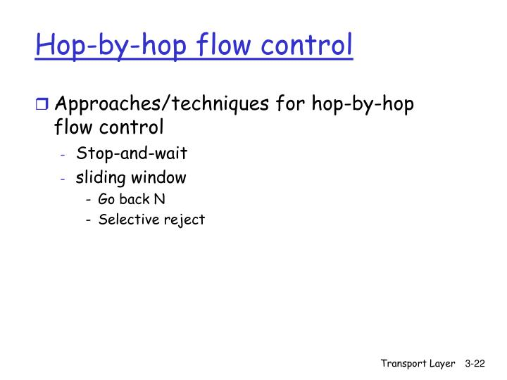 Hop-by-hop flow control