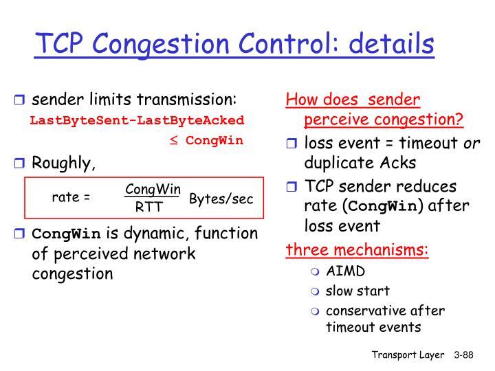 sender limits transmission: