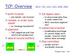 tcp overview rfcs 793 1122 1323 2018 2581