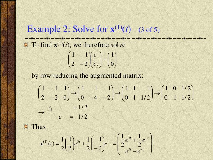 Example 2: Solve for