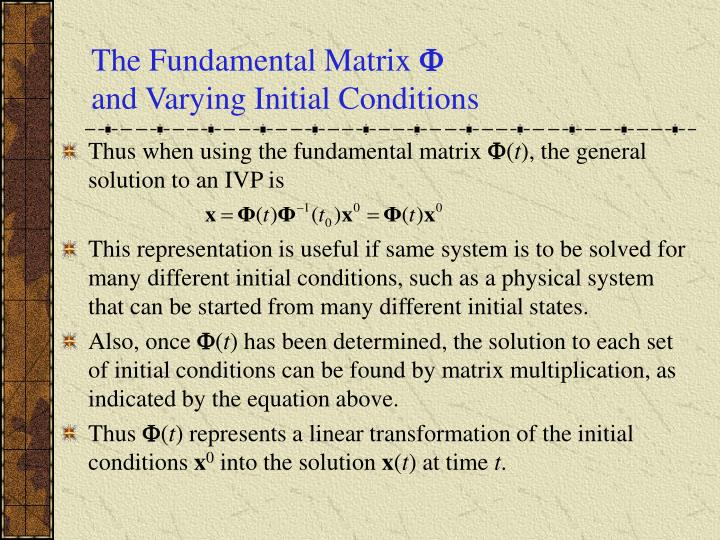 The Fundamental Matrix