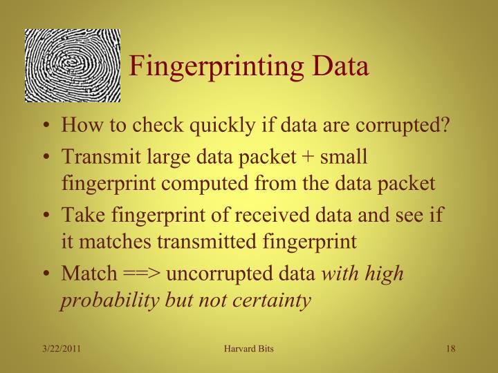 Fingerprinting Data