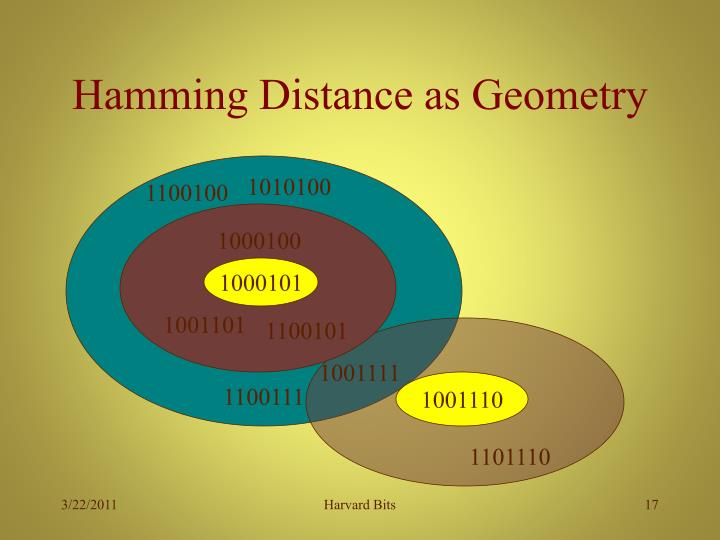 Hamming Distance as Geometry