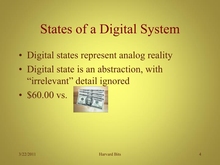 States of a Digital System