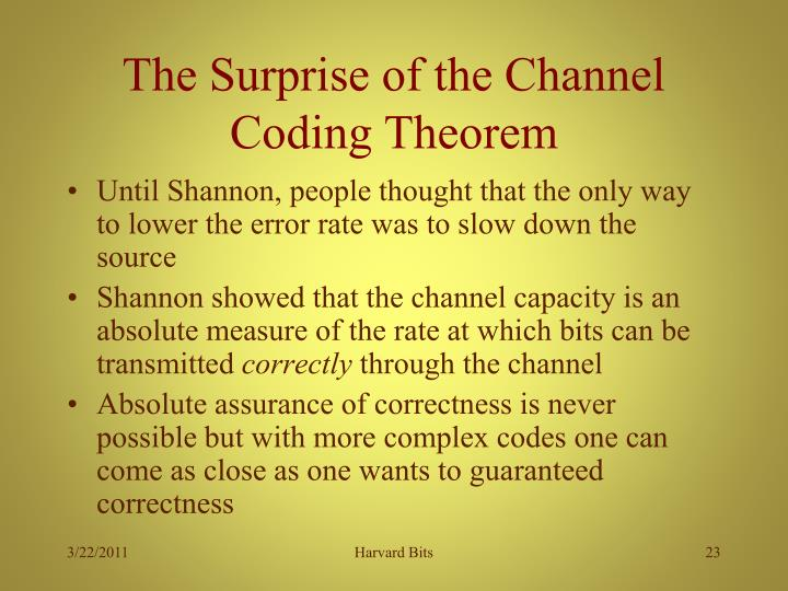 The Surprise of the Channel Coding Theorem