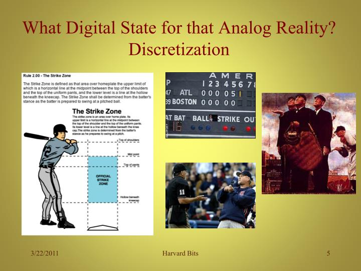 What Digital State for that Analog Reality?