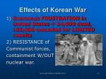 effects of korean war