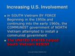 increasing u s involvement