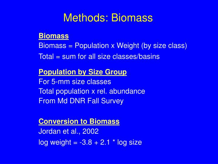Methods: Biomass