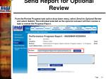 send report for optional review5