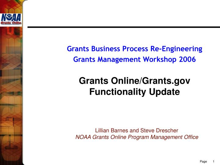 Grants Business Process Re-Engineering