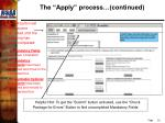 the apply process continued